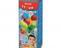 Helium wegwerppatroon incl 30 ballonnen