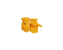 Handschoen(split) – Geel Dik Gevoerd