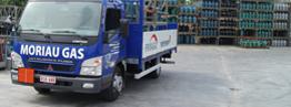 Moriau Gas vrachtwagen front